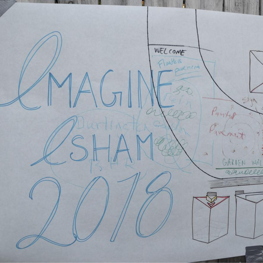 "Banner paper: ""Imagine Isham 2018"""