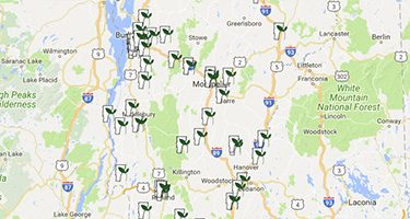 Map showing master gardener locations state-wide