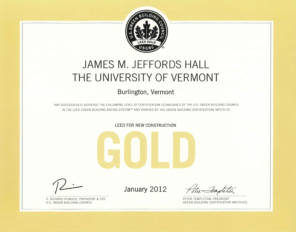 James M Jeffords Hall Facilities Design And Construction The