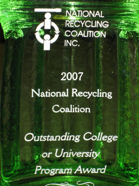 National Recycling Coalition 2007 Outstanding College or University Program Award