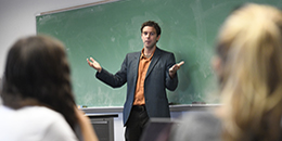 Tim Ashe in classroom