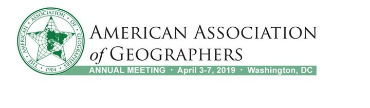 American Association of Geographers, Annual Meeting - April 3-7, 2019 - Washington, DC