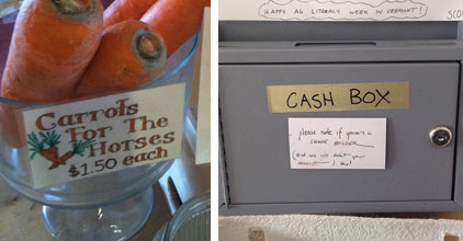 Selling Carrots and Cash Box
