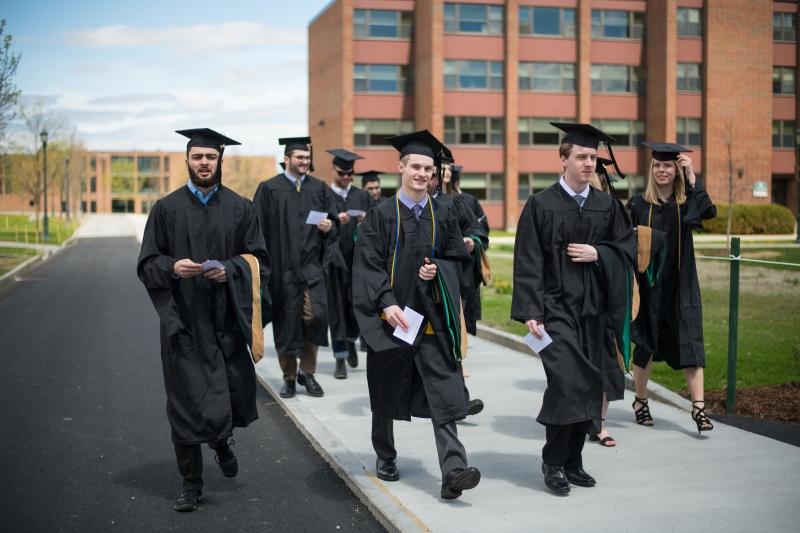 MAcc Graduates Walking