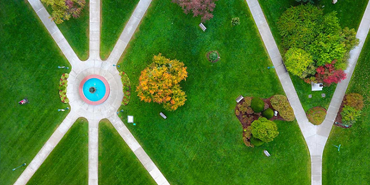 UVM Green from above