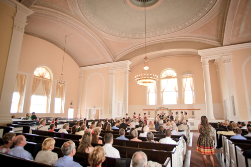 Wedding ceremony at the Ira Allen Chapel