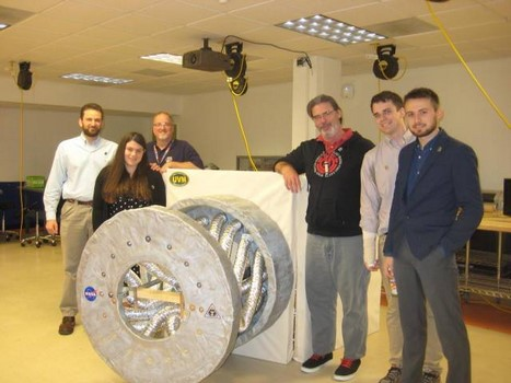 group of students with their Vermont NASA Space Grant project