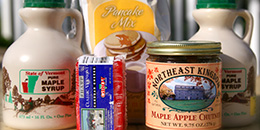Vermont maple syrup and other food products