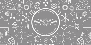 Winter Week of Welcome with winter line icons