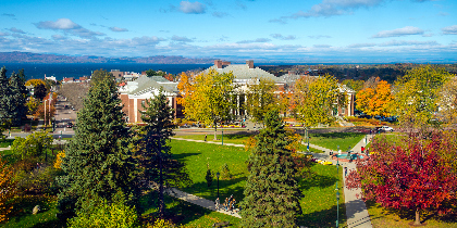 UVM campus, looking toward Lake Camplain.