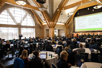 Conference in the Davis Center at UVM