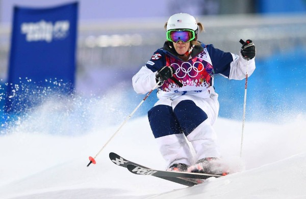 Skier in the Olympics