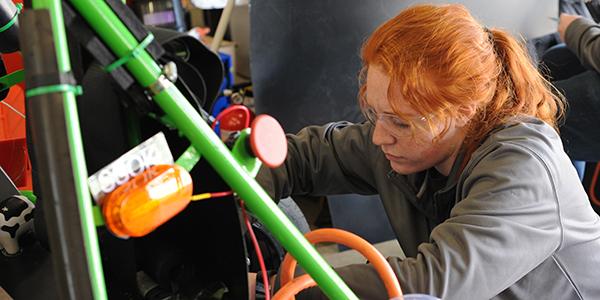 AERO Club member works on car