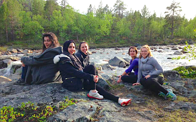 In Finland with students in travel study course
