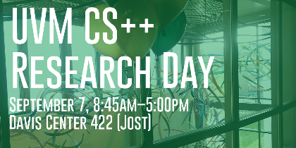 UVM CS++ Research Day announcement