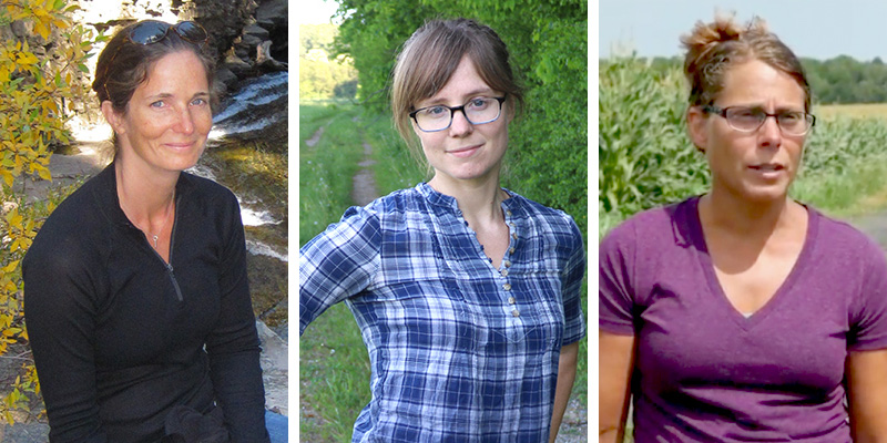 Study investigators Carol Adair, Lindsay Barbieri, Heather Darby