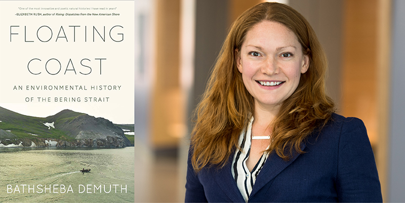 Zencey Prize winner Bathsheba Demuth and the cover of her prize-winning book, Floating Coast