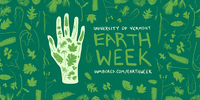 Promotional art for University of Vermont Earth Week