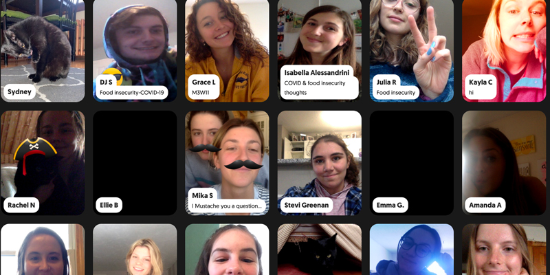 screenshot of student faces in a grid