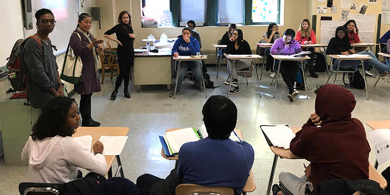 Students in classroom at High School for Environmental Studies
