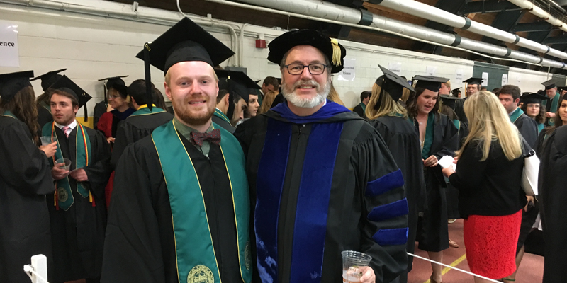 Johnson and son graduation