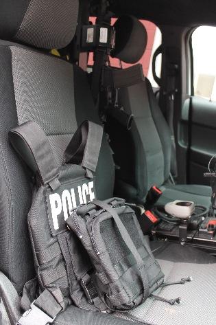 EDGE Backpack in  vehicle