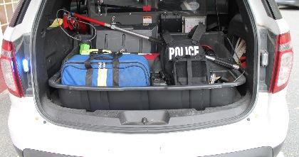 EDGE Backpack in  vehicle trunk