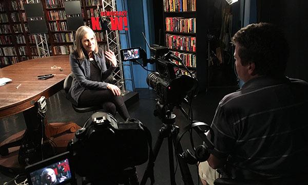 Professor Jon Erickson interviews 'Democracy Now!' host Amy Goodman for his new film, 'Waking the Sleeping Giant.'