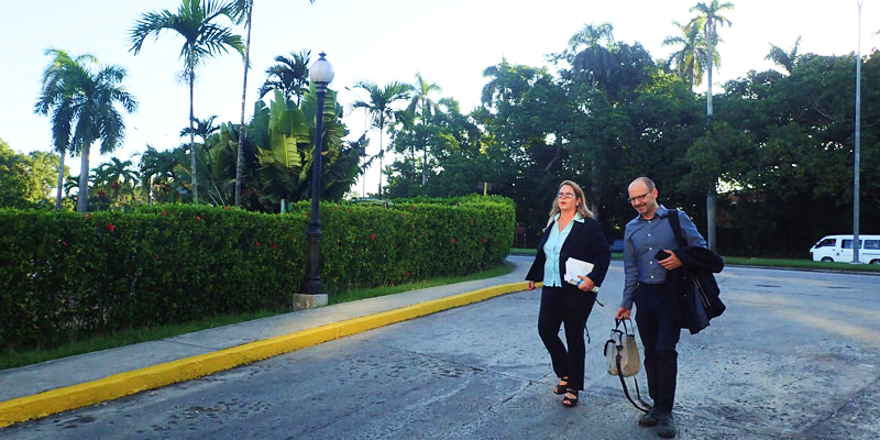 Gund researchers Patricia González-Díaz of the University of Havana and Joe Roman of the University of Vermont