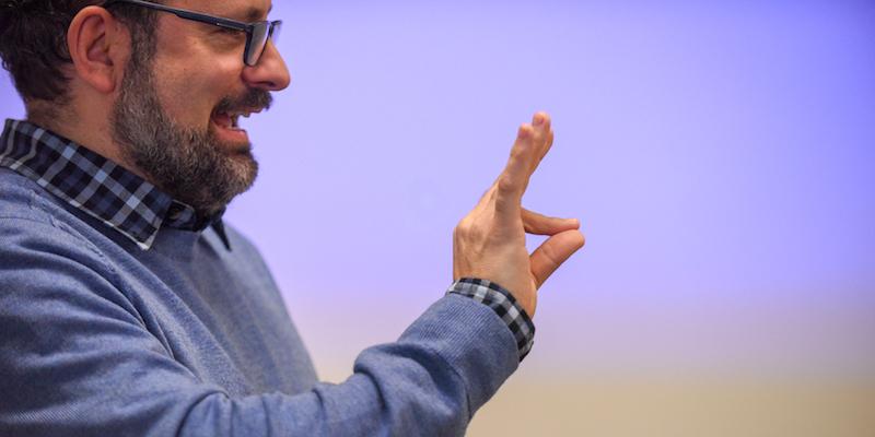 John Pirone teaching American Sign Language