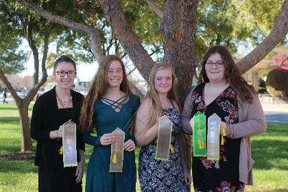 Group representing Vermont in the horse judging competition