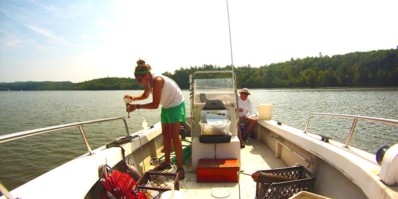 Kelsey Colbert on boat