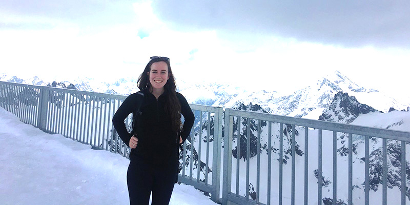 Kristen Switzer in the Swiss Alps