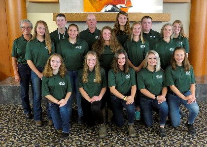 13 Vermont 4-H students who participated in the National 4-H Dairy Conference