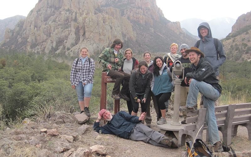 Rick and students a Cave Creek Canyon in Arizona