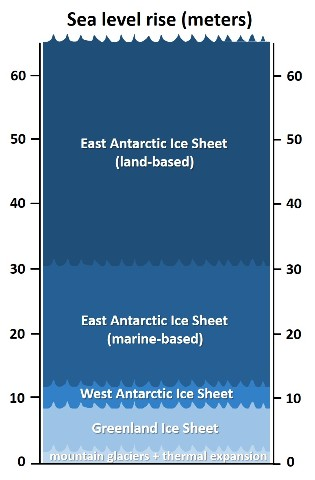 sea-level rise chart