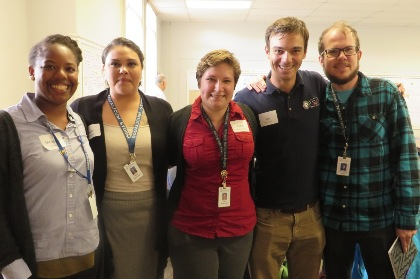 Joe Tomlinson (second from right), CDAE alum and AmeriCorps VISTA