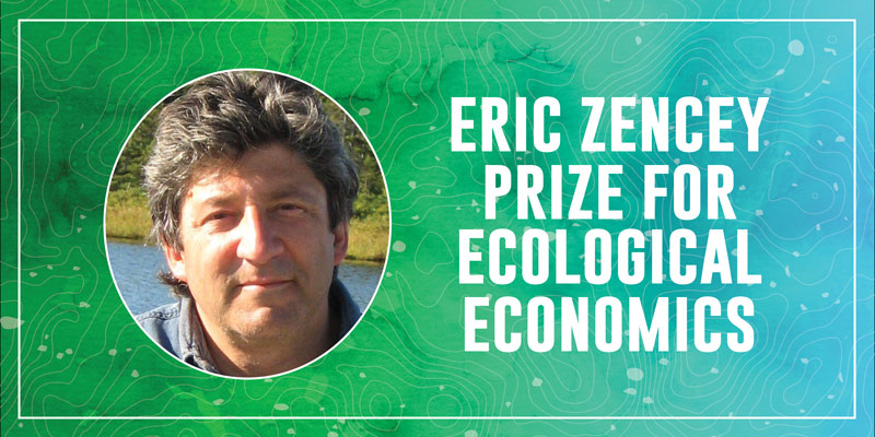 Promotional graphic for the Eric Zencey Prize in Ecological Economics