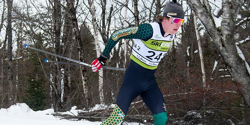 Ben Ogden skiing