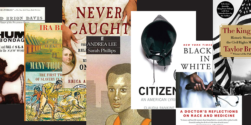 A collage of book covers related to Black history
