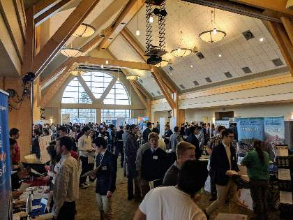 View of many students attending the Engineering and Tech Career Fair