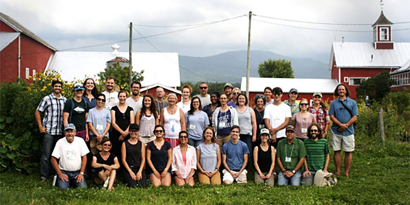 PSS 295/18th Agroecology Shortcourse Participants at the Farm Between, Jeffersonville VT