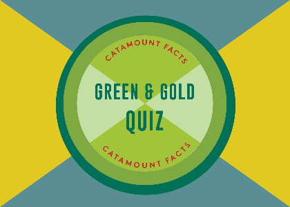 Green & Gold Quiz gameboard design