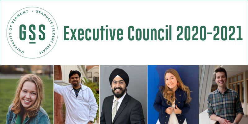 GSS Executive Council 2020-2021 with pictures of council members