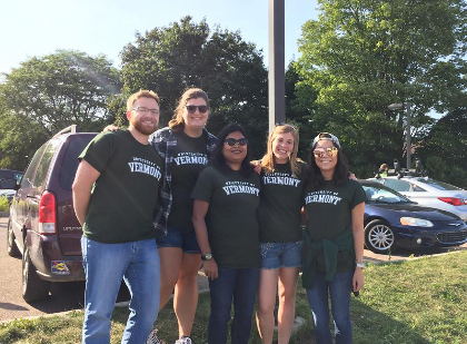 GSS Executive Board at the Welcome Back baseball game for new graduate students