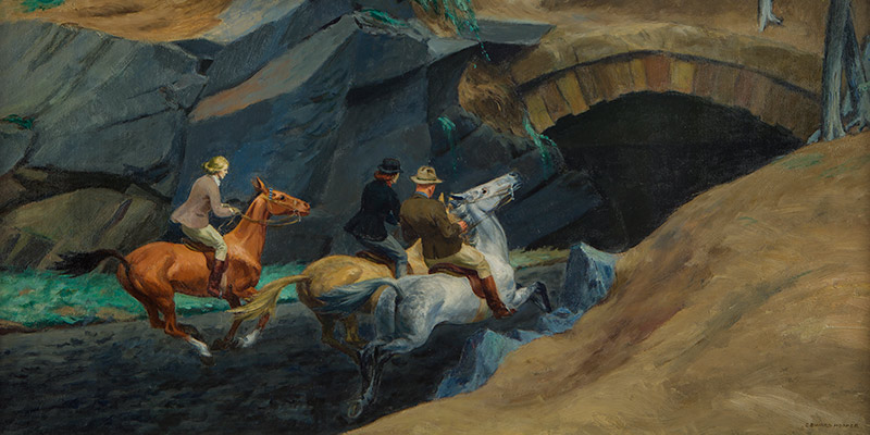 Edward Hopper painting Bridle Path
