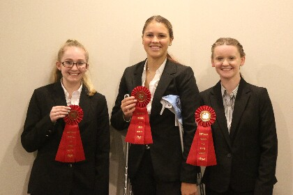 Members of the Vermont B Judging Team that finished second in competition