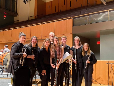 UVM students at 2020 Intercollegiate Band (photo credit: Jordan Mitchell)