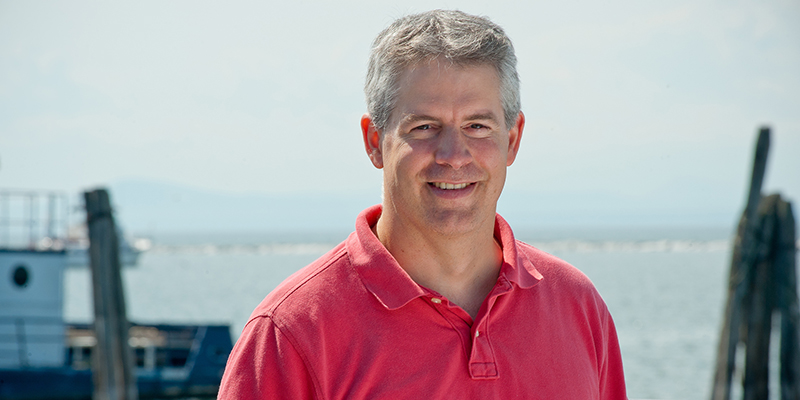 Jason Stockwell on shores of Lake Champlain