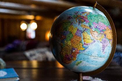 Globe sitting on table